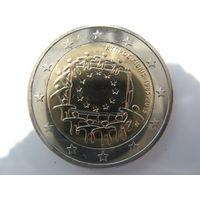 Кипр 2 евро 2015 г. 30 лет флагу Европейского союза. (юбилейная) UNC!