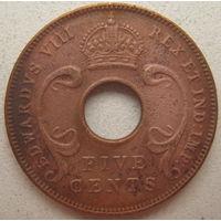 Британская Восточная Африка 5 центов 1936 г. (gl)