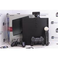 Консоль Sony PlayStation 3 Slim 320Gb (2 джойстика + PS Move + PS Eye). Гарантия