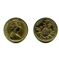 Багамы 5 центов 1968 состояние
