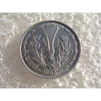 Западная Африка (BCEAO) 1 франк 1963 год. Большая Редкость!!! КМ#3.2