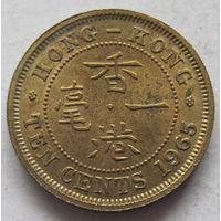 Гонконг 10 центов 1965 без отметки монетного двора