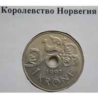 Норвегия 1 крона 1997 год