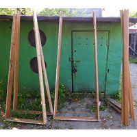 Дверь межкомнатная со стеклами б/у 200*80 с коробкой и наличником