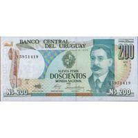 Уругвай 200 песо 1986 г. унс