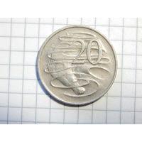 Австралия 20 центов 1976