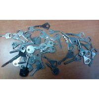 Ключи старые от замков 60 шт.
