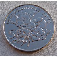 """Сейшельские острова. 50 центов 1976 год KM#25 """"Декларация независимости - Сэр Джеймс Мэнчем"""" Нечастая!!!"""