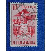 Венесуэла 1951 г. Архитектура. Герб.