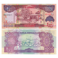 Сомалиленд. 1000 шиллингов 2011 г. [P.20] UNC