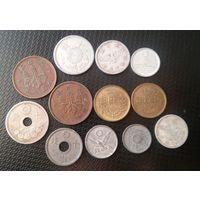 Лот монет старой Японии