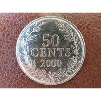 50 центов 2000 Либерия