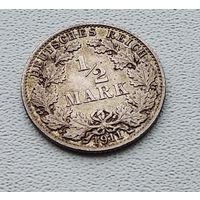 "Германия 1/2 марки, 1911 ""A"" - Берлин 7-10-25"