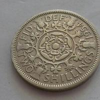 2 шиллинга, Великобритания 1954 г.