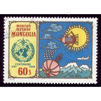 1 марка 1973 год Монголия 100 лет метеостанции 773