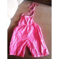 Розовый комбезик-хлопок  до 2 лет гламурно стильный комбез до 5 лет