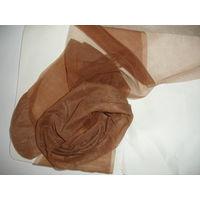 Чулки женские винтаж настоящий капрон без эластана марк.2 на размер ноги 37 цвет телесный под загар