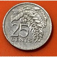 103-23 Тринидад и Тобаго, 25 центов 1975 г. Единственное предложение монеты данного года на АУ