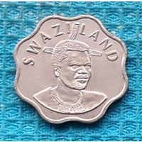 Свазиленд 10 центов 2005 года. UNC. Инвестируй выгодно в монеты планеты!