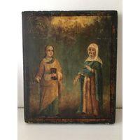 Икона Магдалина. Анна. 19 век. Редкость. Оригинал!