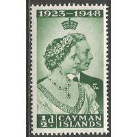Кайманы. Король Георг VI и королева Елизавета. 1948г. Mi#117.