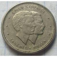 Доминикана 5 сентаво, 1986         ( 3-7-2 )