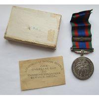 Медаль канадских добровольцев 1939-1945, Великобритания