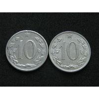 Чехословакия 10 геллеров Цена за монету Список внизу (10)
