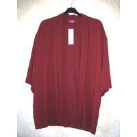 Новый красивый кардиган-кимоно на подкладке винного цвета от F&F, 58 размер (22 Англия)