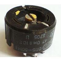 Мощный проволочный подстроечный резистор СП5-50МА на 1КОм