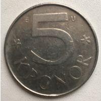 5 крон Швеция 1982