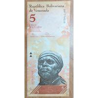 5 боливаров 2014 (19.08.2014) - Венесуэла ; UNC