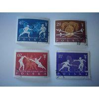 Польша 1963. Чемпионат по фехтованию. Спорт.