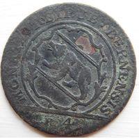 10. Швейцария Берн 4 крейцера 1798 год, биллон