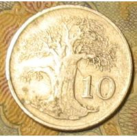 10 центов 1989 Зимбабве