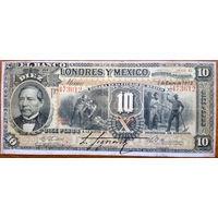Мексика, 10 песо 1913 год