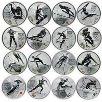 3 рубля 2014 Олимпиада Сочи Виды спорта Набор 16 шт посеребрение в капсулах , копии