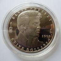 """Маршаловы острова 5 долларов 1993 """"Элвис Пресли"""""""