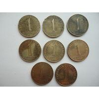 Австрия одно шилинговые монеты ( цена за одну )