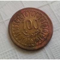 100 миллимов 1983 г. Тунис