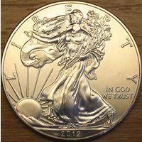 1 доллар 2012г. Американский серебряный орел.
