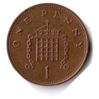 Великобритания. 1 пенни. 1997 г.
