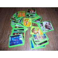 50 наклеек (стикеров) по коллекции Merlin Маска