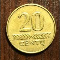Литва, 20 центов 2008