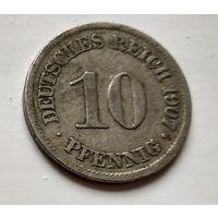 Германия 10 пфеннигов, 1907 A - Берлин 2-1-32