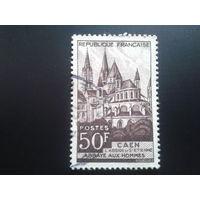Франция 1951 аббатство в Каене