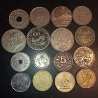 Монеты разных стран и континентов .  16 шт.
