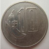 Уругвай 10 песо 1981 г. (u)