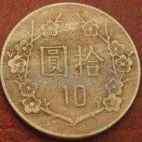 4778:  10 долларов 1985 Тайвань