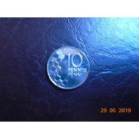 Финляндия, 10 пенни 1999 г.